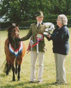 Supreme Champion at 2013 Dartmoor Champion Breed Show. Mr and Mrs P.D.Tyler's Springwater In A Spin.